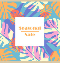 trendy sale banner vector image