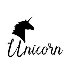 unicorn head mythical horse vector image