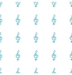 Unique Treble clef seamless pattern vector image