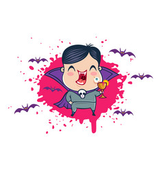 vampire in kawaii style vector image