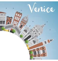 Venice Skyline Silhouette vector