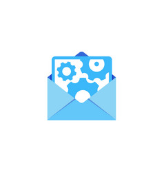 wheel mail logo icon design vector image