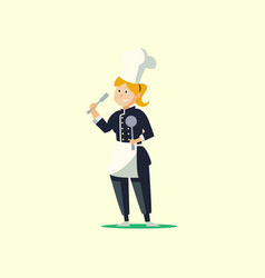 woman chef flat design vector image