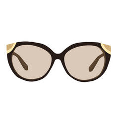 Woman sunglasses icon on a white background vector