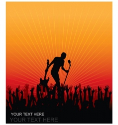concert cheering audience vector image