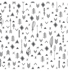 ethnic seamless patterns aztec abstract geometric vector image