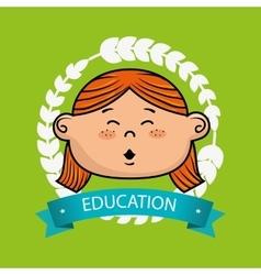 girl student graduation icon vector image
