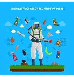 Pest Control Concept vector image
