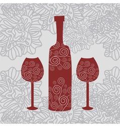 Wine Floral Background vector image