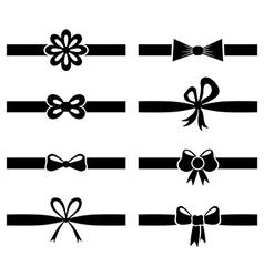 bow ribbon set vector image vector image