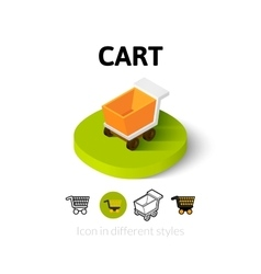 Cart icon in different style vector image