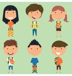 School boys and girls vector image