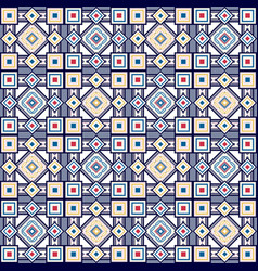 seamless vintage color pattern vector image vector image