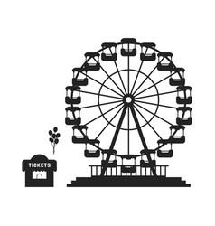 black ferris wheel with cash desk vector image