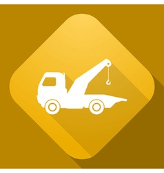 icon of wrecker with a long shadow vector image vector image