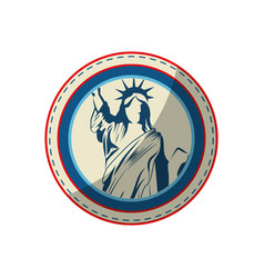 liberty statue icon vector image vector image