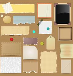 scrapbooking paper elements vector image