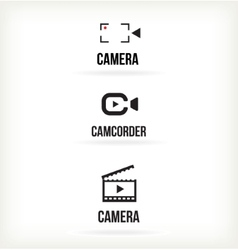 Set of symbols for video vector image