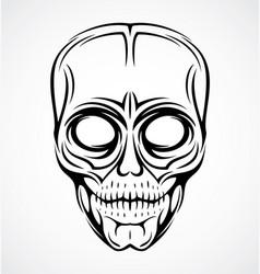 Skull Face Tattoo Design vector image vector image