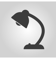 The table lamp icon Reading-lamp and lighting vector image vector image