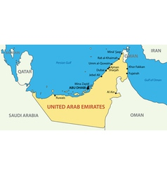 United arab emirates - map vector