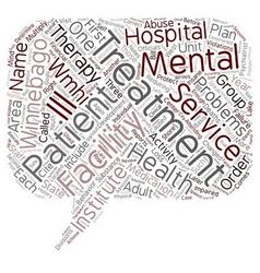 winnebago mental health institute 1 text vector image vector image