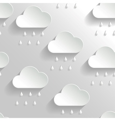 Abstract Background with Paper Rainy Clouds vector image vector image