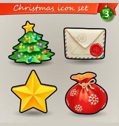funny christmas icons-3 vector image