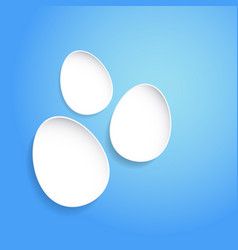 abstract easter eggs on blue background concept vector image