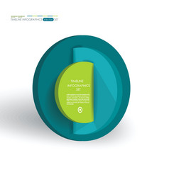 abstract segmented circle infographics vector image