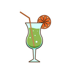 alcohol drinks and cocktails icon in filled vector image