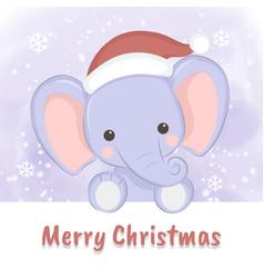baelephant for christmas vector image
