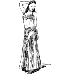 Belly dancing vector