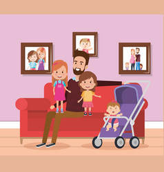 best father in the living room characters vector image