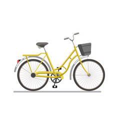 bicycle pedal vehicle with travel basket vector image