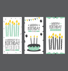 birhday invitation card design vector image