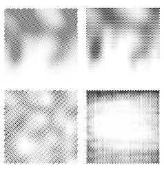Black and white halftone backgrounds vector image