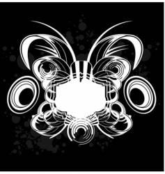black and white sound graffiti vector image