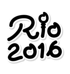 Black logo symbol Brazil 2016 Rio de Janeiro vector