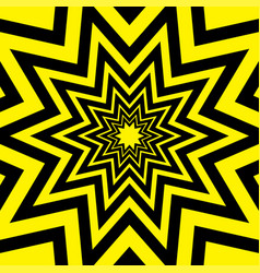 Black yellow warning star abstract background vector