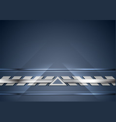blue and silver technology abstract background vector image