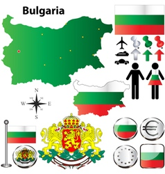 Bulgaria map vector image vector image