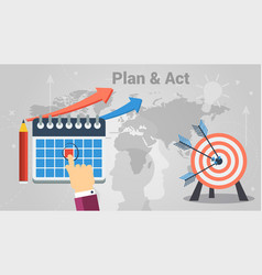business planning and acting vector image