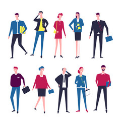 businessman and businesswoman managers vector image