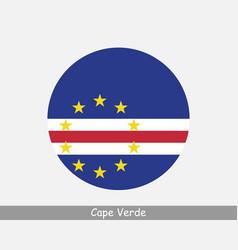 Cape verde round circle flag vector