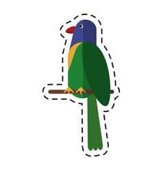 Cartoon parrot exotic bird nature vector