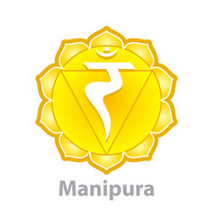 chakra manipura isolated on white vector image