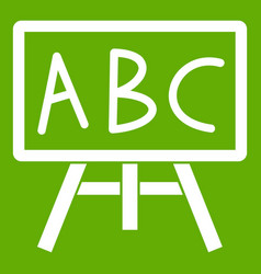 Chalkboard with the leters abc icon green vector