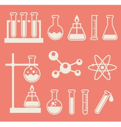 Chemical laboratory equipment - test tubes and vector image