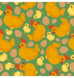 Chicken flat pattern vector image